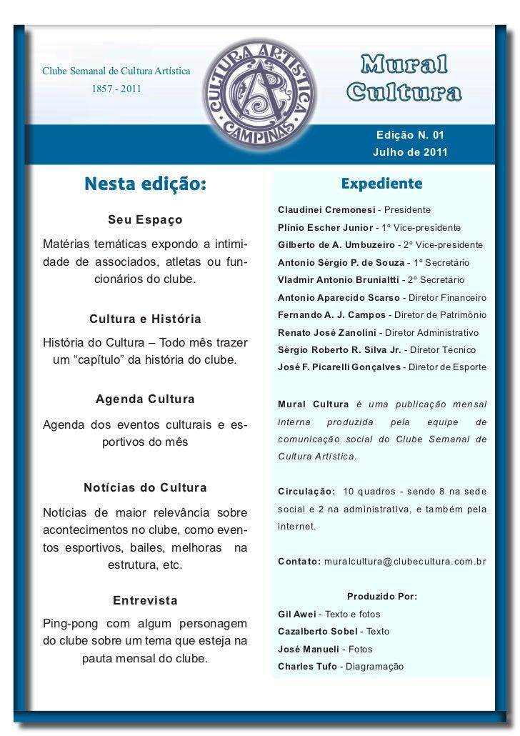 Clube Semanal de Cultura Artística                       Mural           1857 - 2011                                      ...