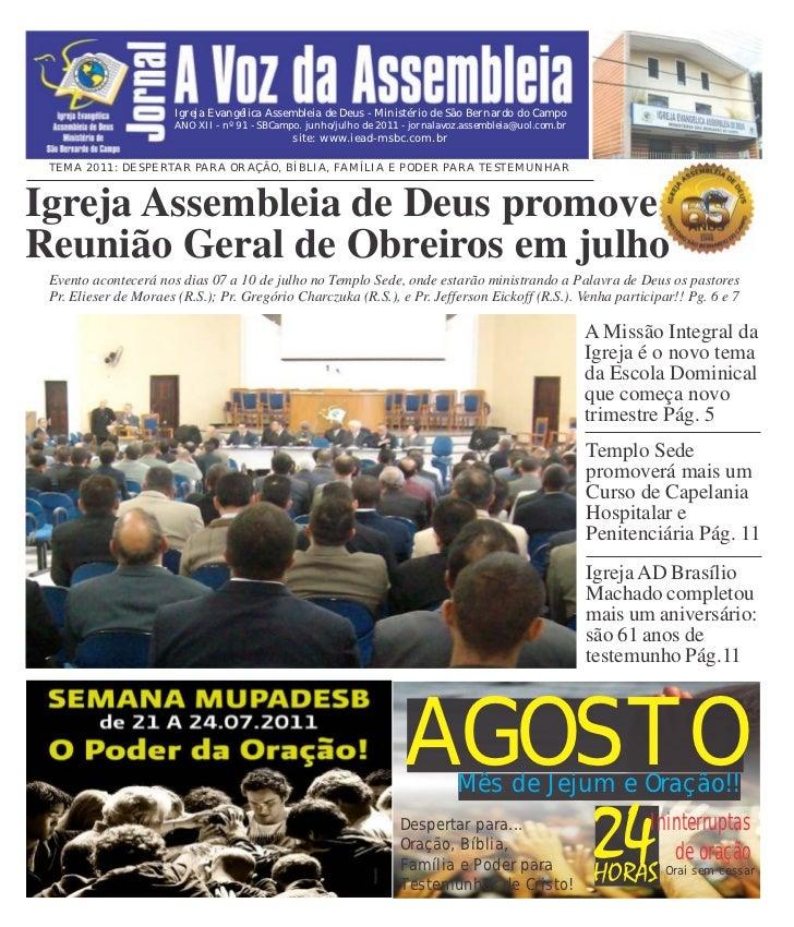 Igreja Evangélica Assembleia de Deus - Ministério de São Bernardo do Campo                       ANO XII - nº 91 - SBCampo...