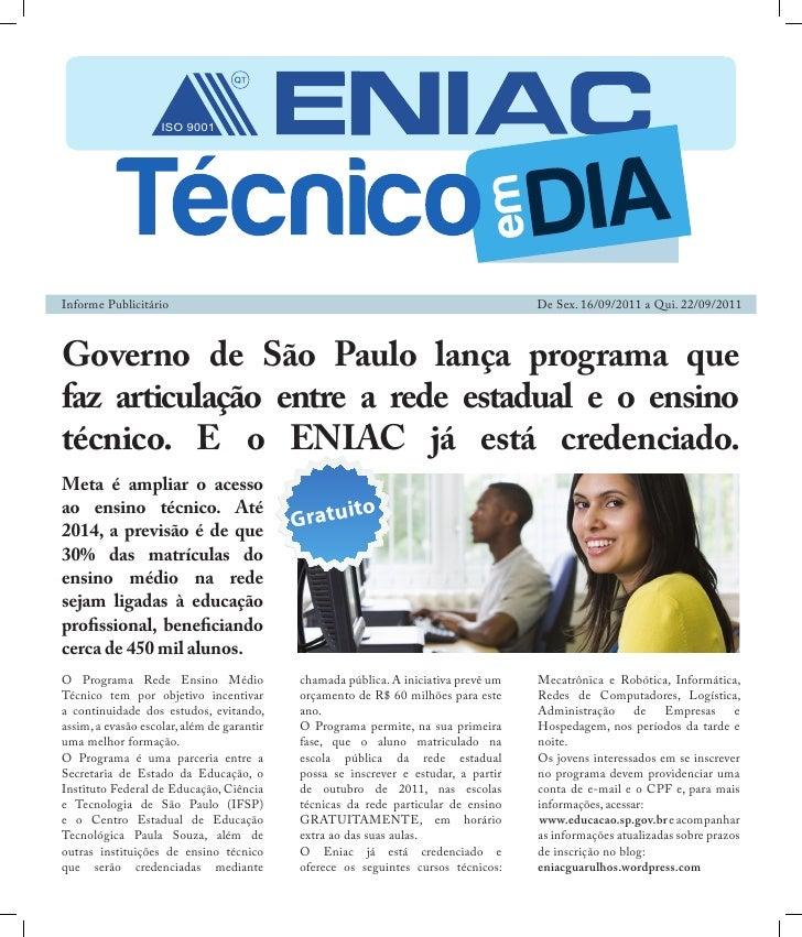 ISO 9001Informe Publicitário                                                                 De Sex. 16/09/2011 a Qui. 22/...