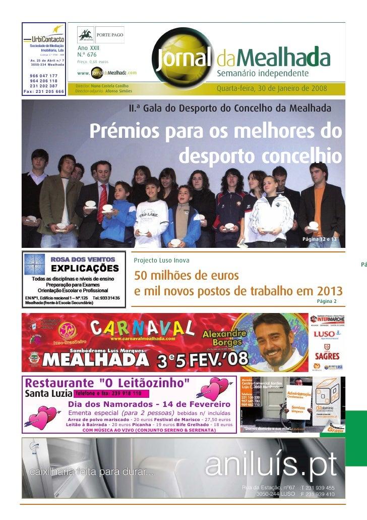 Jornal da Mealhada - n.º 676 – 30.01.2008