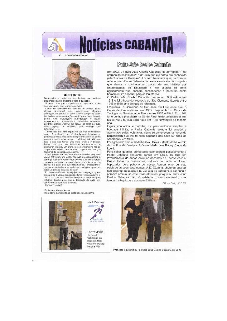 Jornal  Escolar   Notícias Cabanita