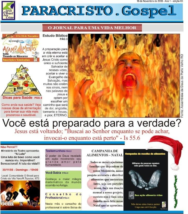 Jornal Paracristo.Gospel