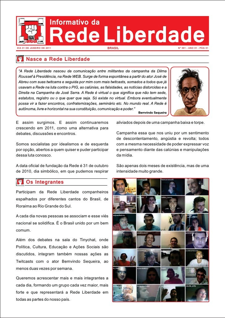 Jornal Rede Liberdade nº 001 Ano 01