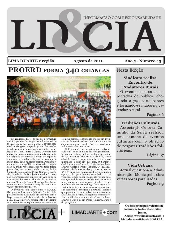 LIMA DUARTE e região                                            Agosto de 2011                              Ano 5 - Número...