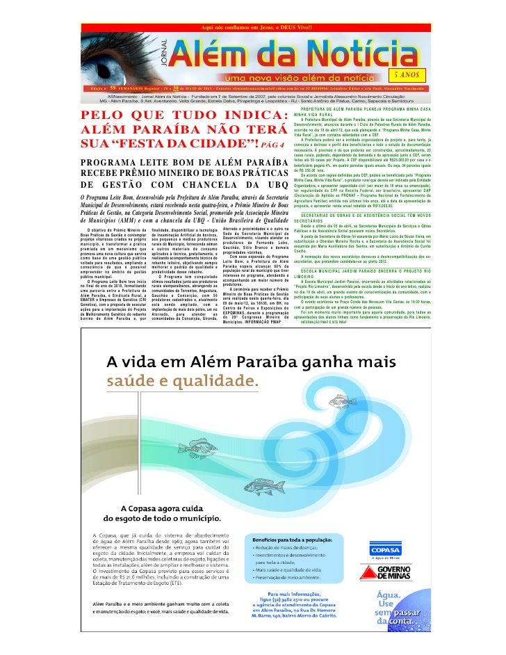 Jornal alem da noticia edição 59 maio ii