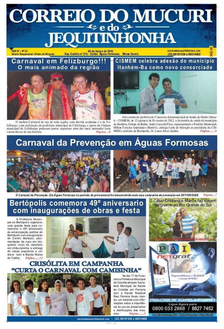 ANO IV Nº 33                                                  05 de março de 2012                                         ...