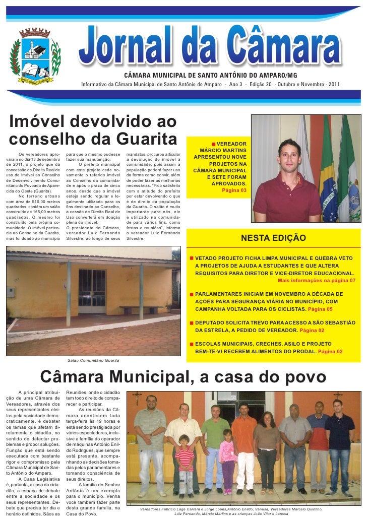 CÂMARA MUNICIPAL DE SANTO ANTÔNIO DO AMPARO/MG                                      Informativo da Câmara Municipal de San...