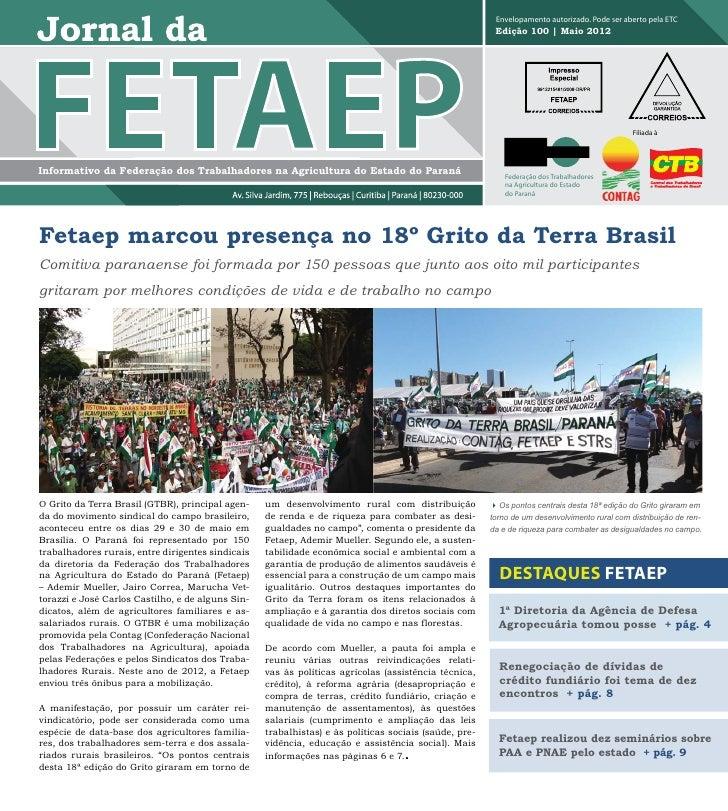 Jornal da fetaep edição 100 - maio de 2012