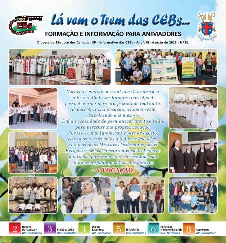 Jornal das CEBs mês agosto 2012