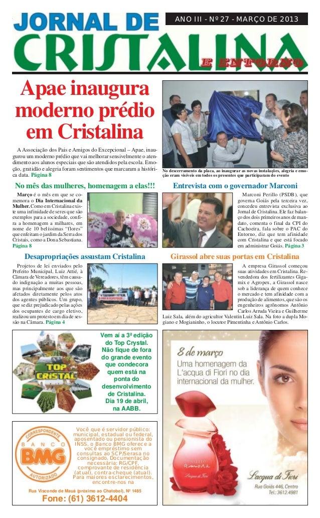 Março de 2013                                        JORNAL DE CRISTALINA                                                 ...