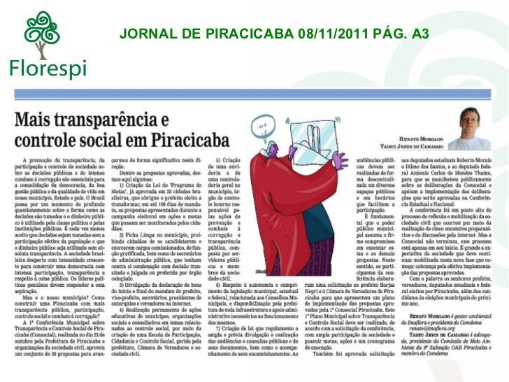Jornal de piracicaba 08.11
