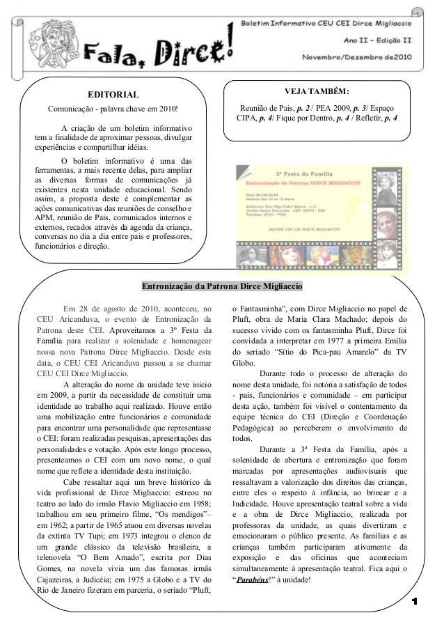 EDITORIAL                                               VEJA TAMBÉM:    Comunicação - palavra chave em 2010!              ...