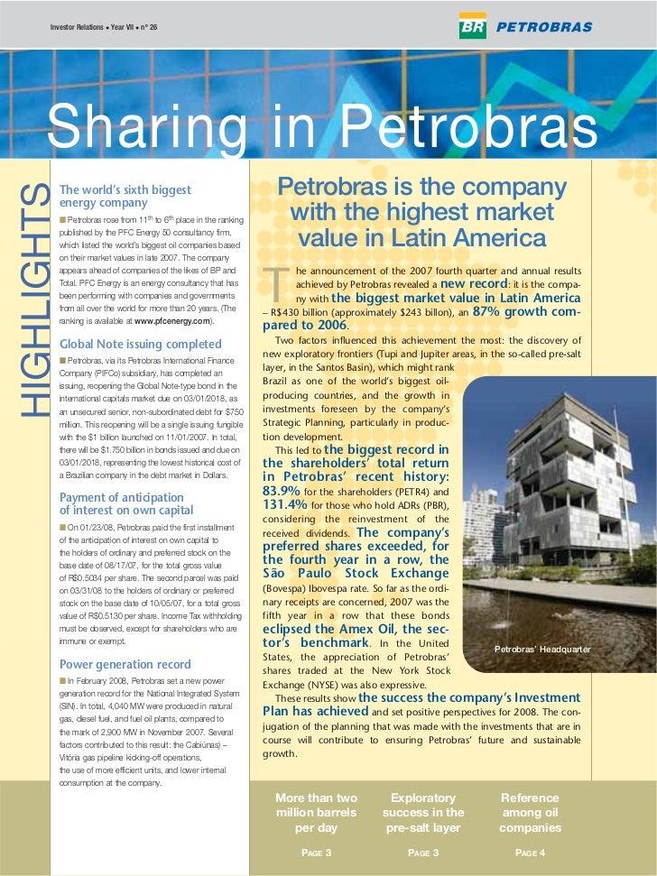 Investor Relations • Year VII • nº 26             Petrobras em Ações       Sharing in Petrobras                           ...