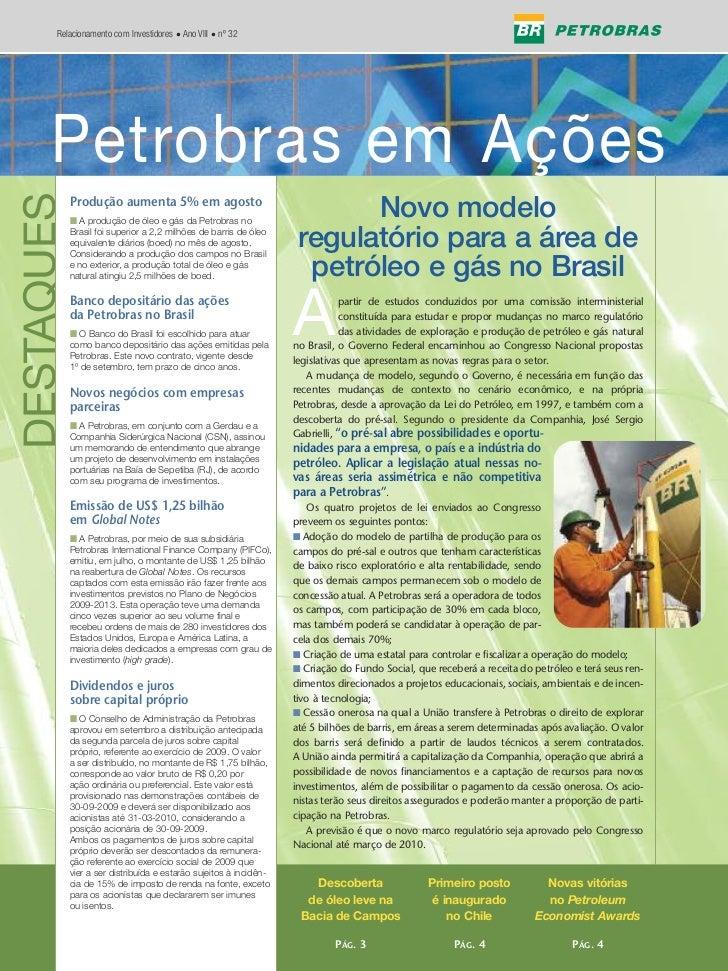 Edição 32 - Petrobras em Ações - n° 03/2009