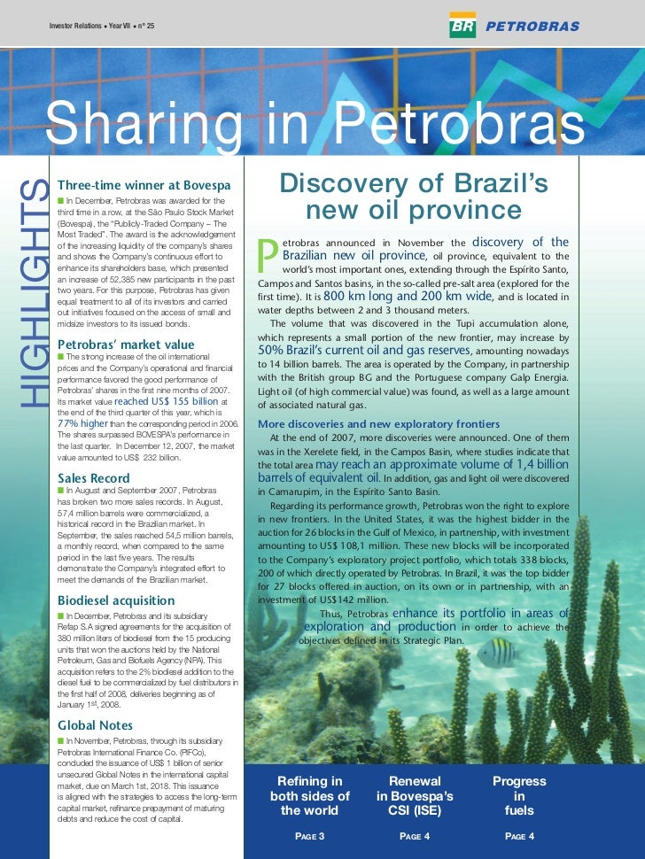 Edition 25 - Sharing in Petrobras - number 4/2007