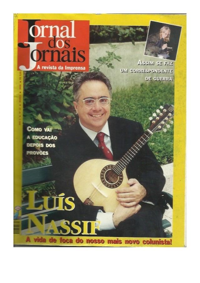 Jornal dos jornais - capa com Luis Nassif
