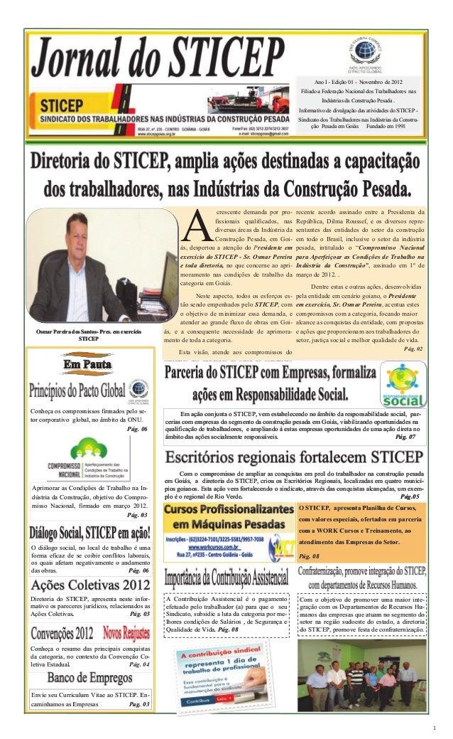 Ano I - Edição 01 - Novembro de 2012                                                                                      ...