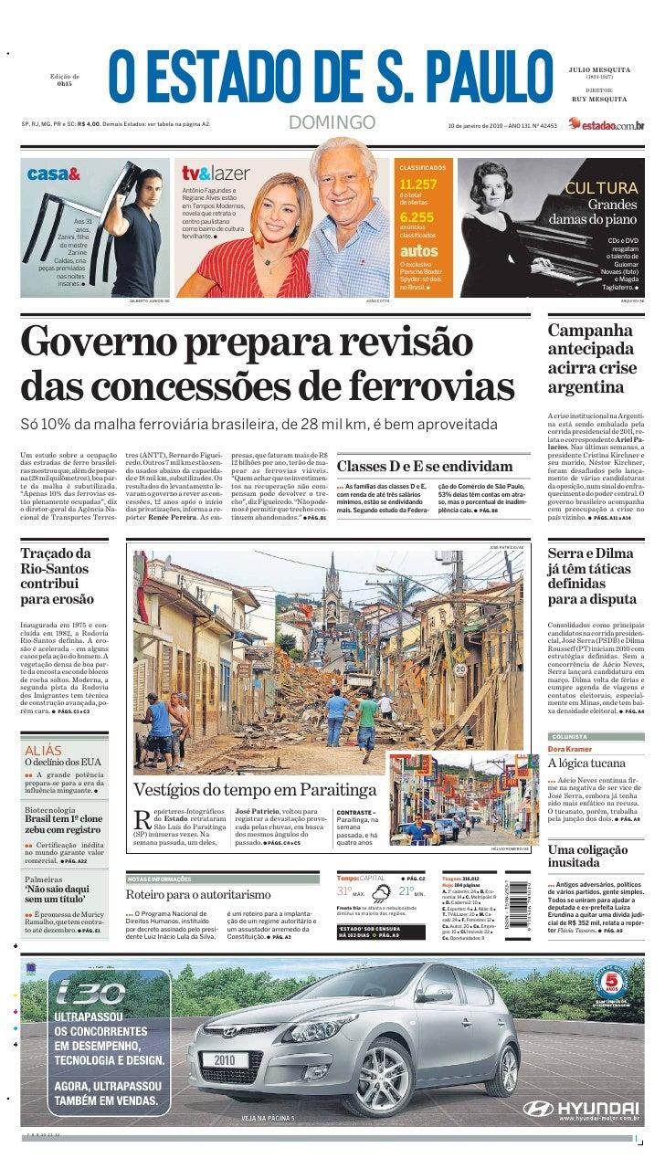 Jornal Estado De Sao Paulo 24012010