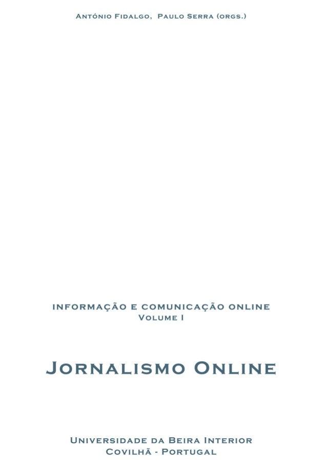 Jornalismo online   antônio fidalgo