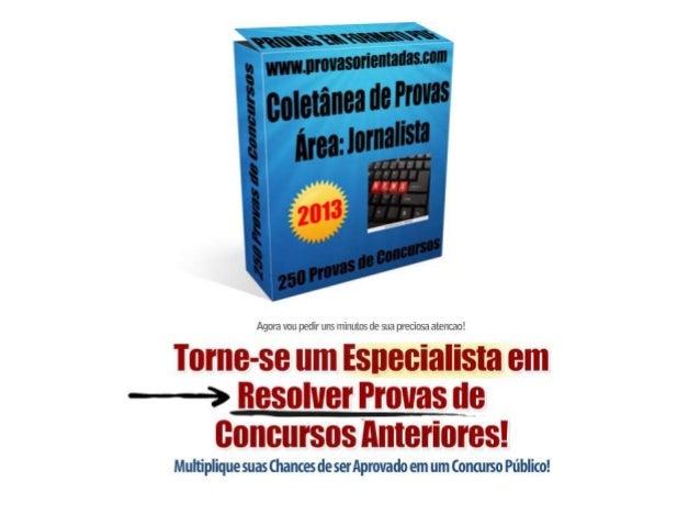 Coletânea de provas Jornalista