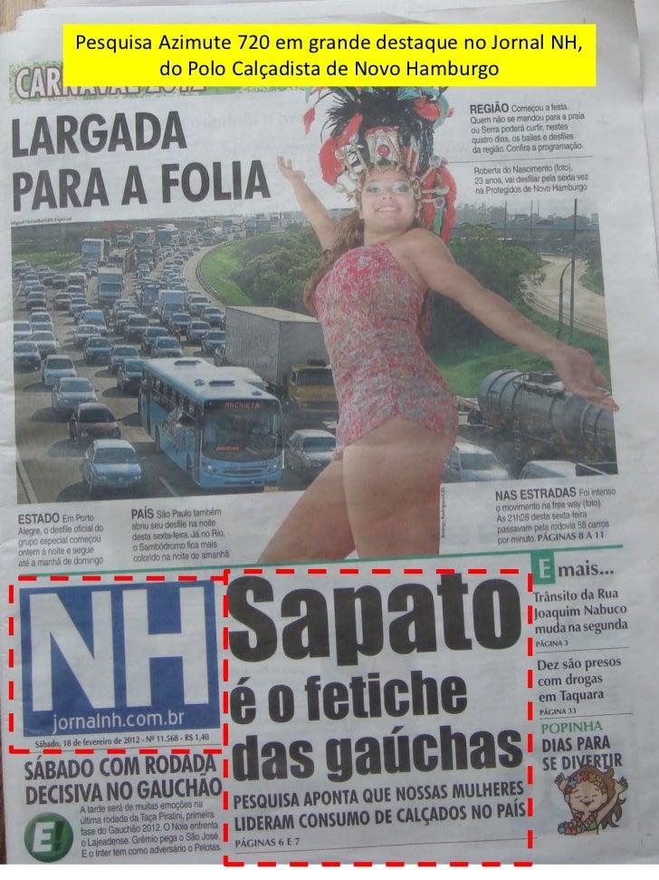 Pesquisa Azimute 720 em grande destaque no Jornal NH,         do Polo Calçadista de Novo Hamburgo