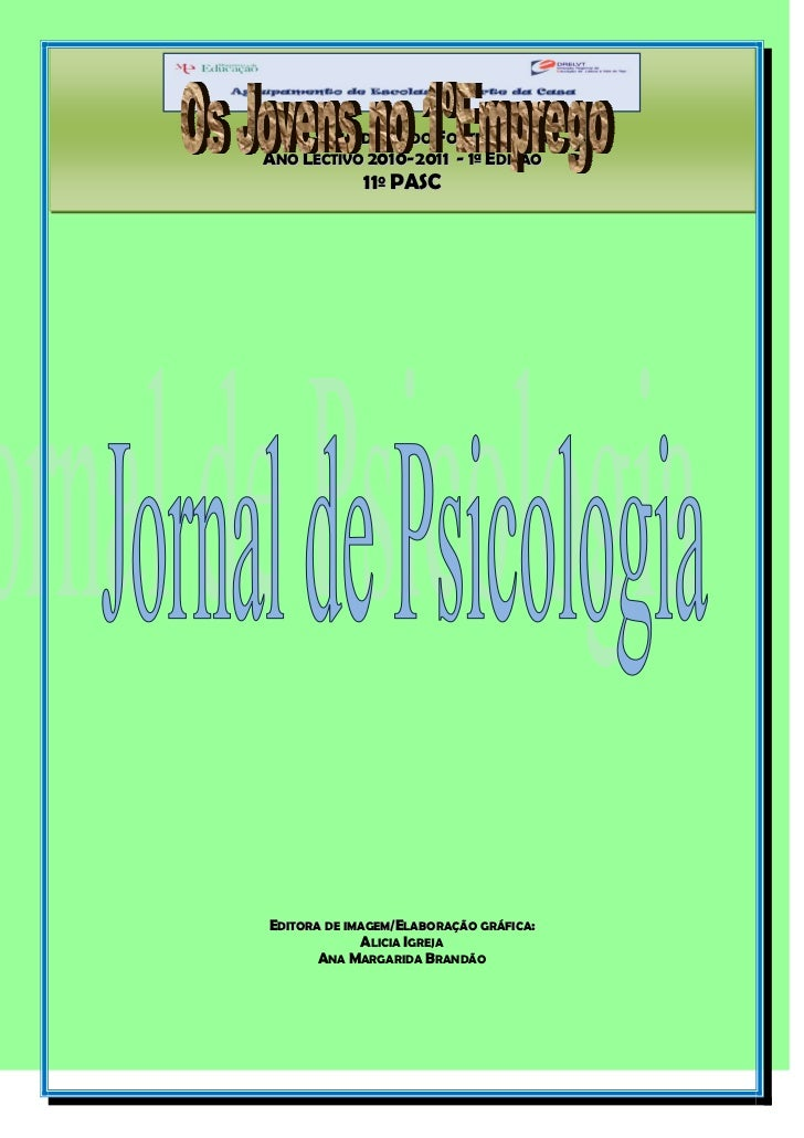 Jornal psicologia  1ª edição - 2010-11