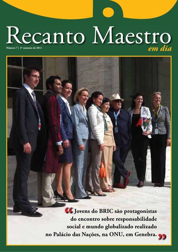 Jornal Recanto Maestro 7°Ed Os Jovens