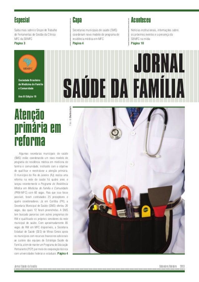 Especial  Capa  Aconteceu  Saiba mais sobre o Grupo de Trabalho de Ferramentas de Gestão da Clínica MFC da SBMFC Página 3 ...