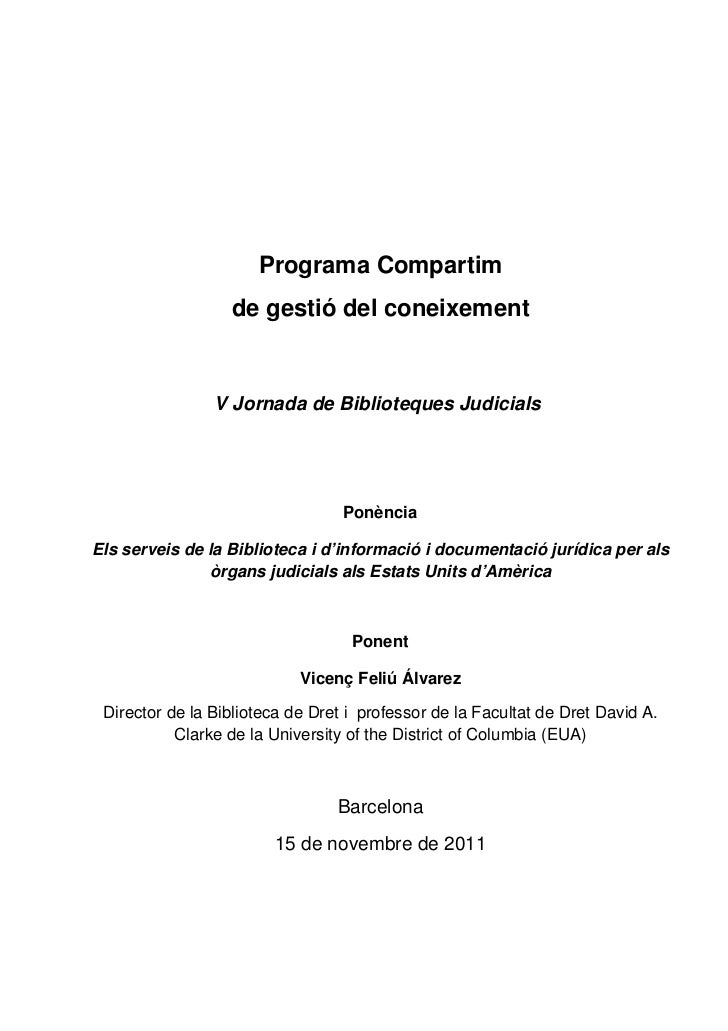 Els serveis de la Biblioteca i d'informació i documentació jurídica per als òrgans judicials als Estats Units d'Amèrica
