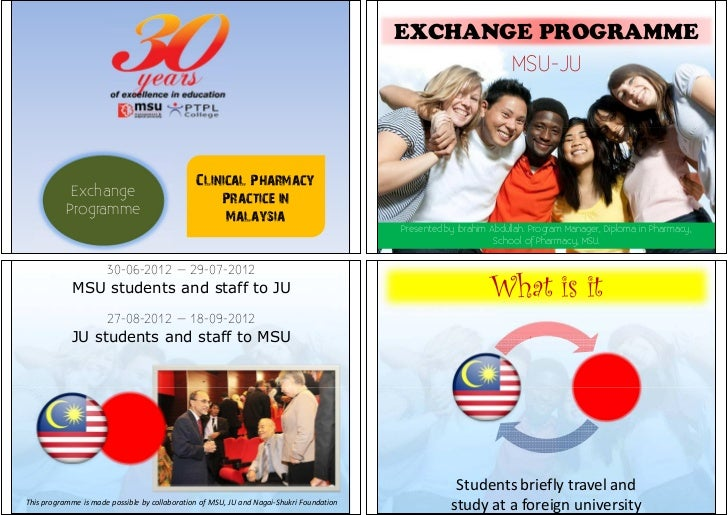 Exchange programme & Introduction to clinical pharmacy in Malaysia