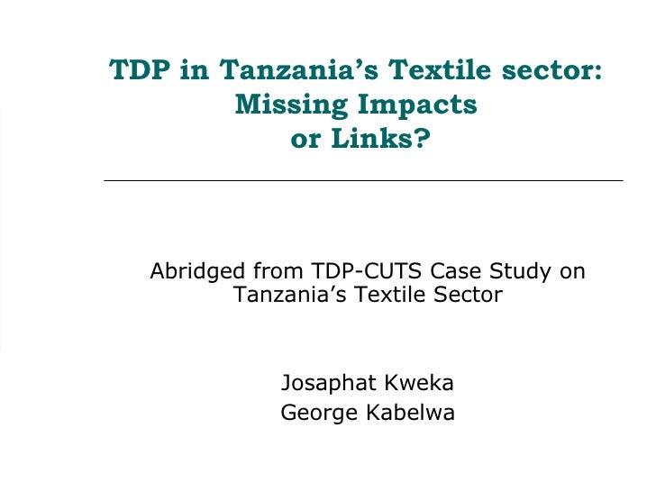Josaphat Kweka Tdp Session1