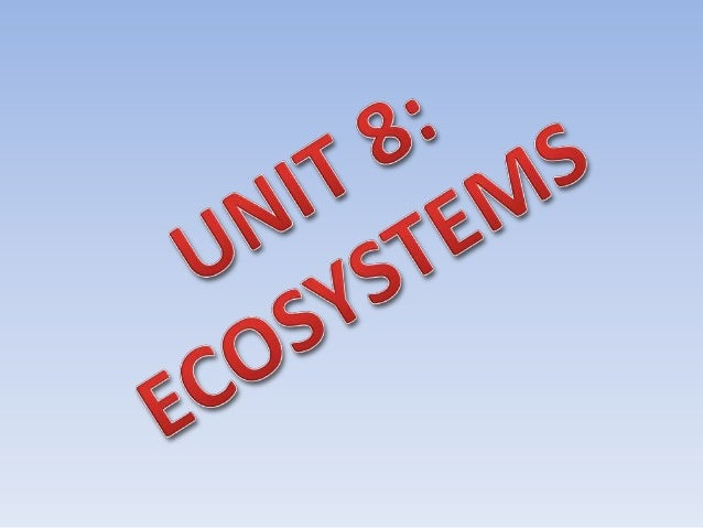 What are ecosystems? Where animals and plants have close links with the non-living environment they all form an ecosystem.