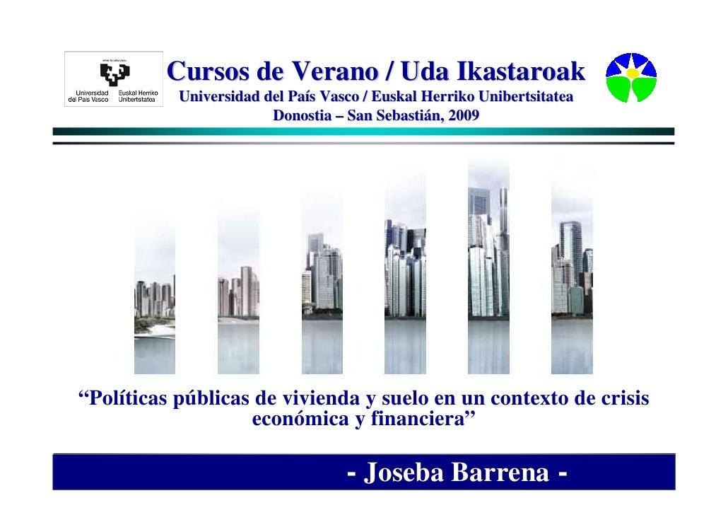 Cursos de Verano / Uda Ikastaroak            Universidad del País Vasco / Euskal Herriko Unibertsitatea                   ...