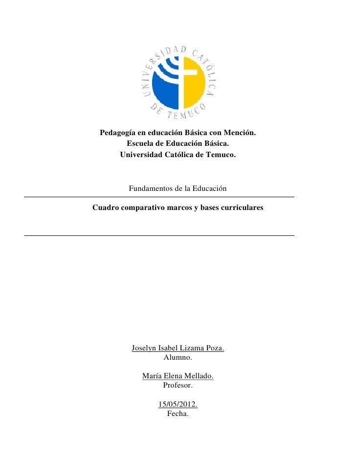 Pedagogía en educación Básica con Mención.        Escuela de Educación Básica.       Universidad Católica de Temuco.      ...