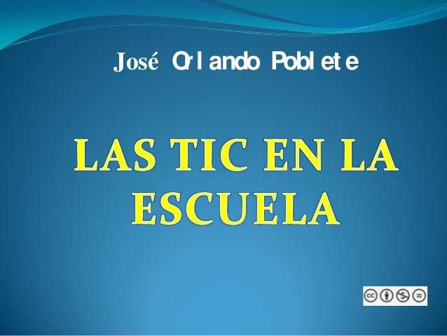 José Orl ando Pobl et e