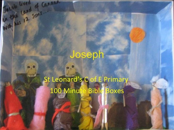 Joseph St Leonard's C of E Primary  100 Minute Bible Boxes