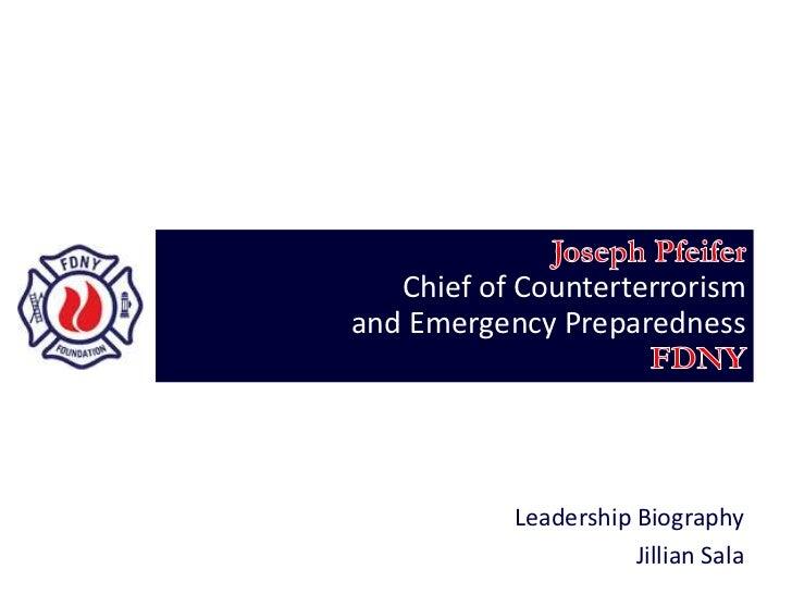 Chief of Counterterrorismand Emergency Preparedness           Leadership Biography                      Jillian Sala
