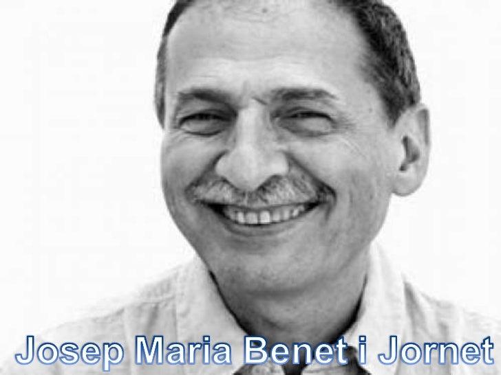 Josep m. benet i jornet  maite i lina