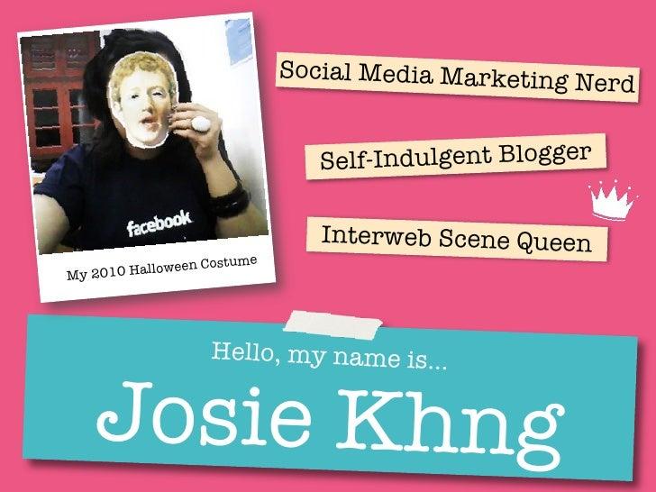 Josie Khng - A Social Media Marketer's Visual Resume / CV