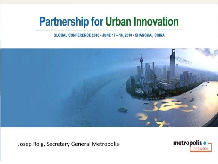 Josep Roig - Partnerships for Urban Innovation