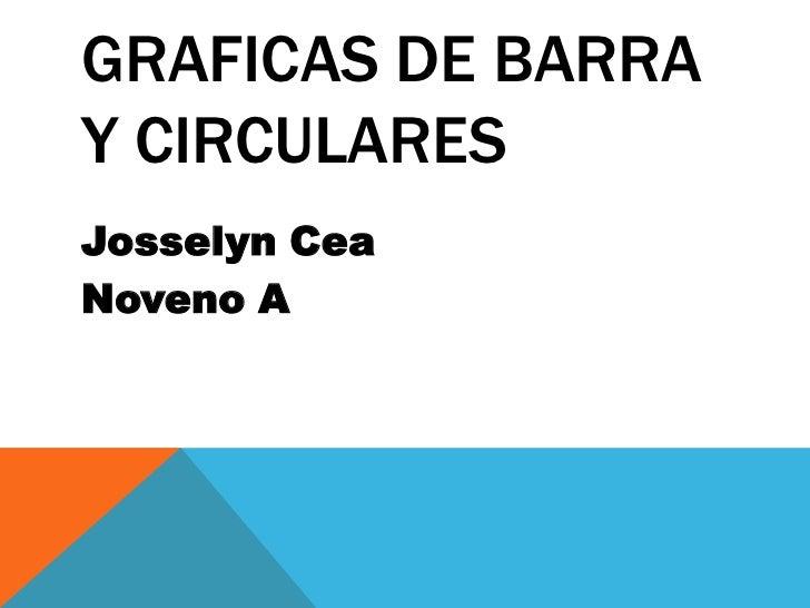 Graficasde Barra y Circulares<br />Josselyn Cea<br />NovenoA<br />