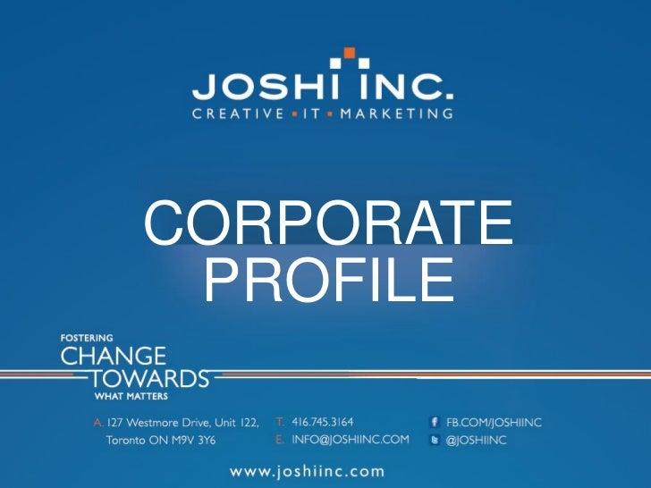 Joshi inc-portfolio
