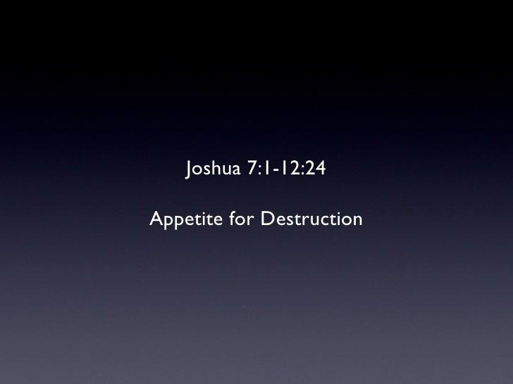 Joshua 7-12
