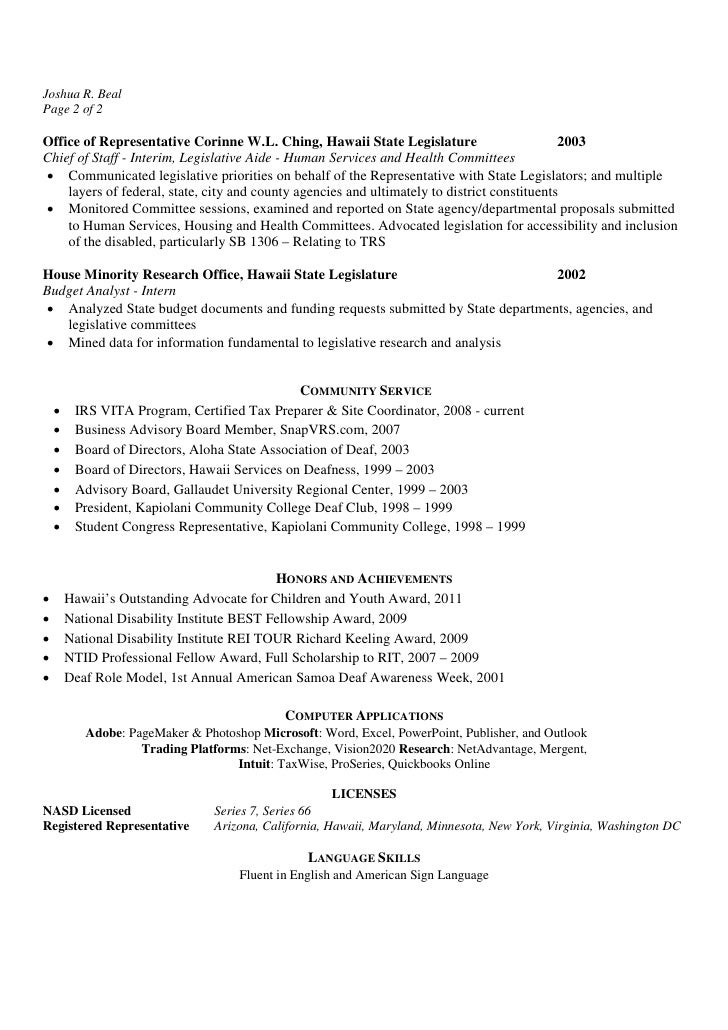 Resume Legislative Services Assistant I - Legislative Assistant Resume