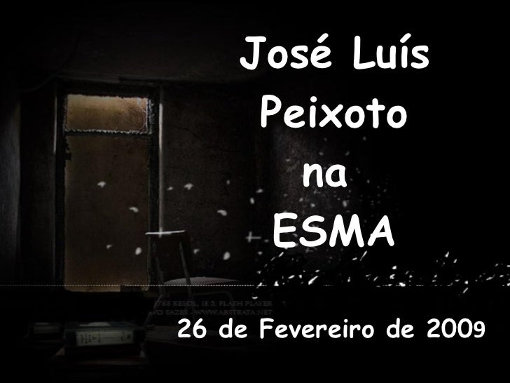 José Luís Peixoto na  ESMA 26 de Fevereiro de 200 9