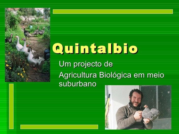 QuintalBio - Um projecto de  Agricultura Biológica em meio suburbano