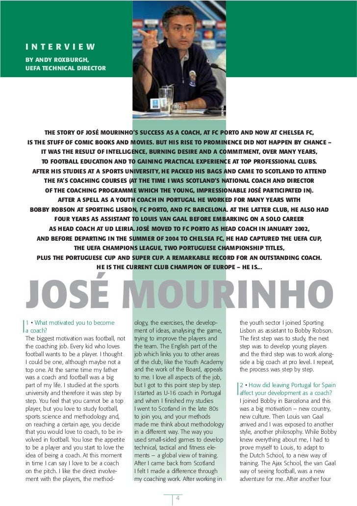 José Mourinho Interview