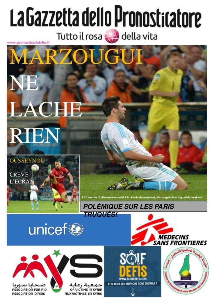 MARZOUGUINELACHERIENOUSSEYNOUCREVEL'ECRAN            8ème journée : Solidement accroché à la tête du championnat, Marzougu...