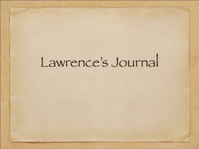 Lawrence's Journal