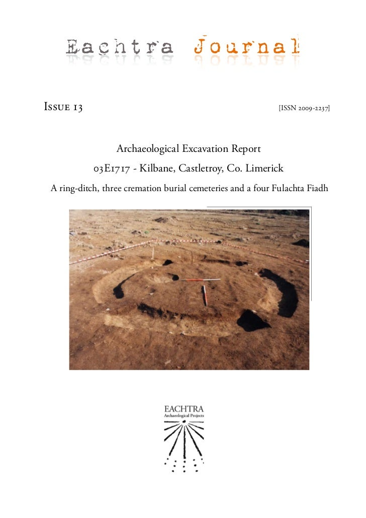 Eachtra JournalIssue 13                                                    [ISSN 2009-2237]                  Archaeologica...